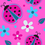 Cute girlish seamless pattern Royalty Free Stock Image