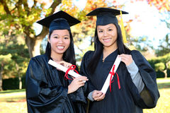Cute Girls at Graduation Stock Images