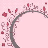 Cute girly frame. Cute girly floral frame with space for your message Royalty Free Stock Photo