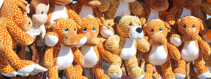 Cute girrafe stuffed animals Royalty Free Stock Image