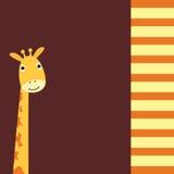 Cute Giraffe card Royalty Free Stock Photo