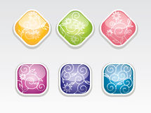 Cute  glossy buttons Royalty Free Stock Photo