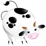 Cute  glossy cow Stock Image