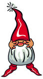 Cute gnome with beard and long red hat on a white background. Stock Image
