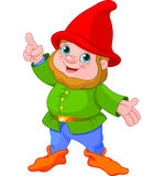 Cute Gnome presenting Stock Photo