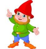 Cute Gnome presenting Stock Photo