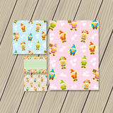 Cute gnome stationery Stock Photos