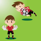 Cute Goalkeeper Royalty Free Stock Image