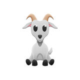Cute goat is animal cartoon in farm and zoo of paper cut Stock Images