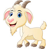 Cute goat cartoon Royalty Free Stock Image