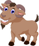 Cute goat cartoon smiling look at camera Stock Photos