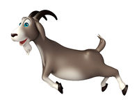 Cute Goat funny cartoon character Royalty Free Stock Images