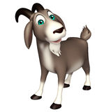 Cute Goat funny cartoon character Royalty Free Stock Photo