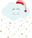 Cute goodnight cloud Royalty Free Stock Photo