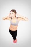 Cute gorgeous sportswoman posing at camera Stock Photography