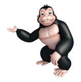 Cute Gorilla cartoon character Stock Photography