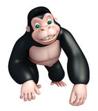 Cute Gorilla funny cartoon character Royalty Free Stock Image