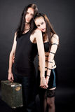 Cute gothic couple together Stock Image