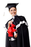 Cute Graduate with Certificate Stock Photography