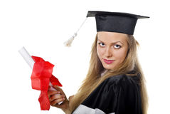 Cute Graduate with Certificate Royalty Free Stock Photography