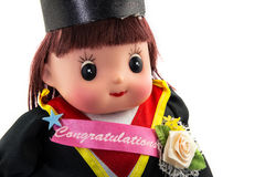 Cute graduation girl. On white background Stock Photo