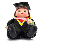 Cute graduation girl. On white background Stock Image