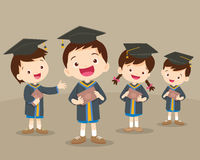 Cute graduation students Royalty Free Stock Images