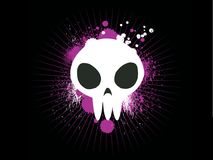 Cute graffiti Skull Stock Images