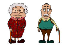 Cute grandma and grandpa Royalty Free Stock Photo