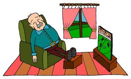 Cartoon Old Man Chair Stock Photos Images Amp Pictures