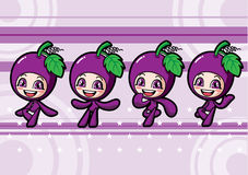 Cute grape girl Stock Images