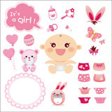 Cute Graphic for Baby Girl Royalty Free Stock Images