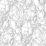 Cute graphic crystal pattern Royalty Free Stock Image