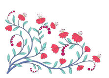 Cute graphic flowers background Royalty Free Stock Images