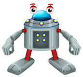 A cute gray robot Stock Photos