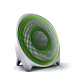 Cute green 3d speaker Stock Photography