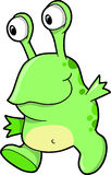 Cute Green Alien Vector Royalty Free Stock Images