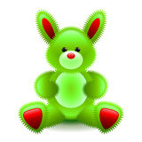 Cute green bunny soft toy isolated on white vector Stock Photography