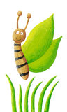 Cute green butterfly Royalty Free Stock Photo