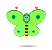 Cute Green Butterfly Stock Images