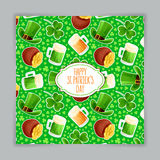 Cute green card for St. Patrick`s Day Stock Photography
