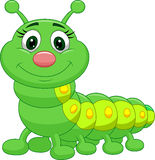 Cute green caterpillar cartoon Stock Photography