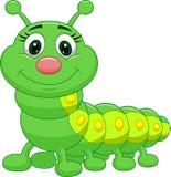 Cute green caterpillar cartoon Stock Photography
