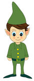 cute green christmas elf Royalty Free Stock Photo