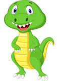 Cute green dinosaur cartoon Royalty Free Stock Images