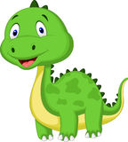 Cute green dinosaur cartoon Royalty Free Stock Photos