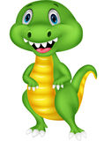 Cute green dinosaur cartoon Stock Photos