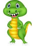 Cute green dinosaur cartoon Stock Photos
