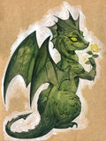 Cute green dragon Stock Image