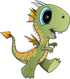 Cute Green Dragon Royalty Free Stock Image
